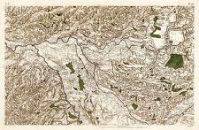MAP CASSINI FRANCE 18TH CENTURY POITIERS POITOU REPLICA POSTER PRINT PAM0804