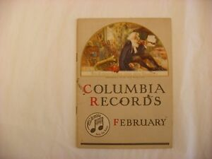 Original Columbia Graphophone Phonograph Record Catalog - February, 1917