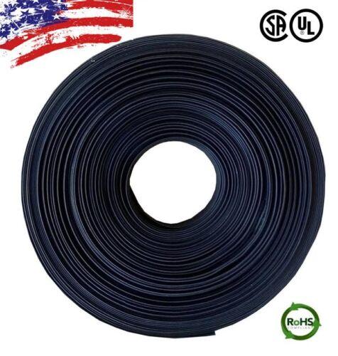 "100 FT 100 Feet BLACK 3//16/"" 5mm Polyolefin 2:1 Heat Shrink Tubing Tube Cable UL"