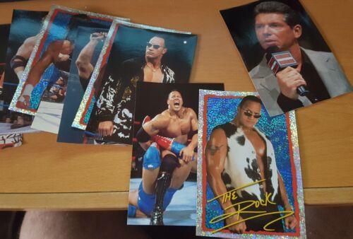 Merlin WWF Mega Photo Autocollants complet collection 48 Autocollants Le Rock Triple H Ul