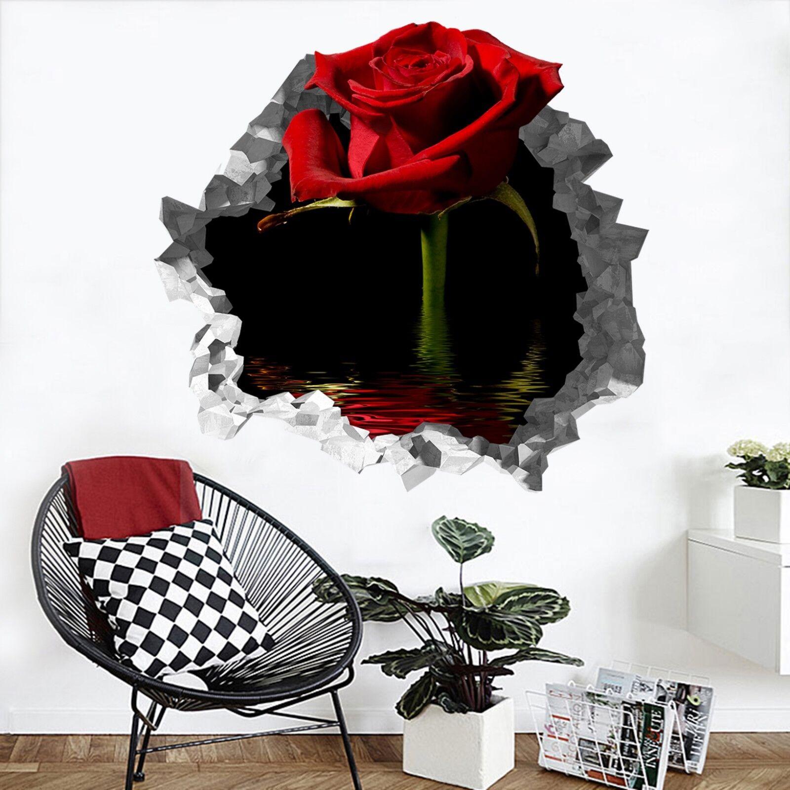 3D Bella pink Rossa 200 Parete Murales Parete Adesivi Decal Sfondamento IT