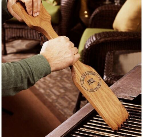 NEW The Great Scrape Woody Paddle All Natural BBQ Grill Wood Scraper