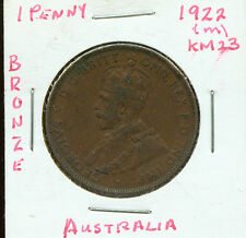 WORLD COINS AUSTRALIA 1922(m)  LARGE PENNY (G966)