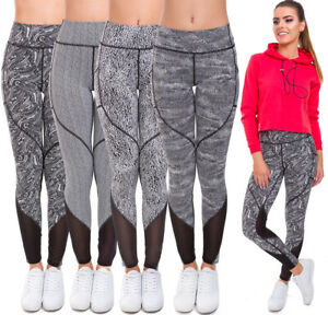 Ladies-Gym-Sports-Leggings-Womens-High-Waisted-Slimming-Fitness-Yoga-Pants-HL45