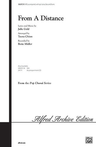 ; Gold T 5802FC1X From a Distance ALFRED J arr Mixed voices SATB Chinn