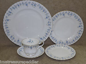 Image is loading Royal-Albert-Memory-Lane-Blue-Flowers-20-pc- & Royal Albert Memory Lane Blue Flowers 20 pc Dinnerware Sets up to 3 ...