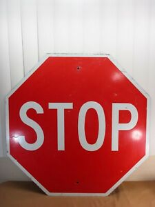 """Vintage Style Stop Sign Metal Road Highway Traffic 12X12"""" Street Sign Man Cave"""
