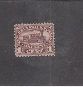 NEW-BRUNSWICK-MK4603-6-VF-MNG-1cts-LOCOMOTIVE-RED-LILAC-1860-CAT-VAL-60