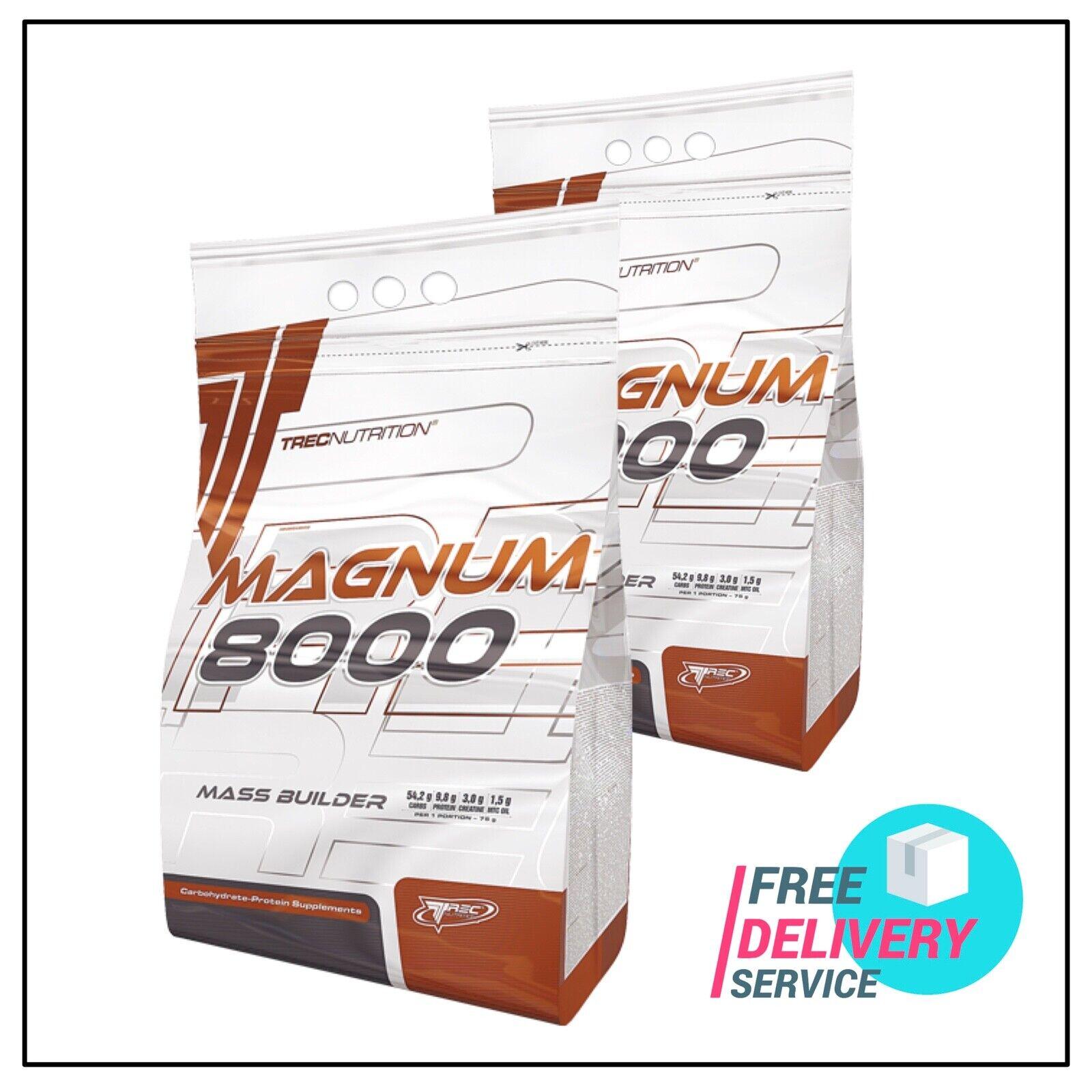 Trec Nutrition Magnum 8000 5.45kg Mass Gainer MCT ACEITE Creatina Gratis P&P
