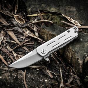 Pocket Folding Knife Japanese D2 Steel Titanium Dioxide Coated  Outdoor EDC Tool