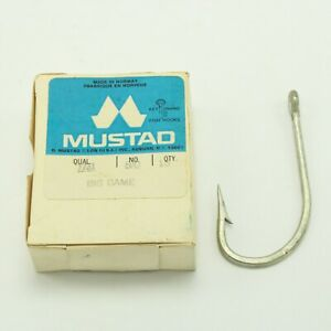 Rare Mustad 7731-4//0 Sea Demon Big Game Hooks Size 4//0 Pack of 10 NOS