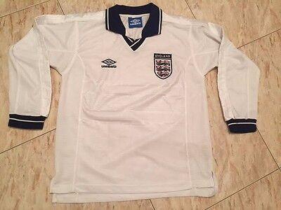 rare vintage umbro retro England national team 93-95 soccer jersey shirt size L