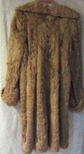 Vintage curly lamb swing coat