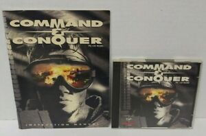 1995 COMMAND & CONQUER for PC CD-ROM Computer Game + Manual- Mint Disc 1 Owner !