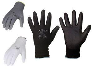 Montagehandschuhe-Arbeitshandschuhe-Mechanikerhandschuhe-Nylon-Pu-1-240-Paar