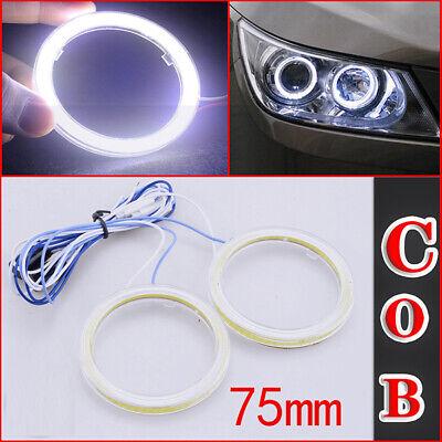 Angel Eyes LED COB Halo Car Ring DRL Daytime Running Lights 80mm White 12V 24V DC Package 2