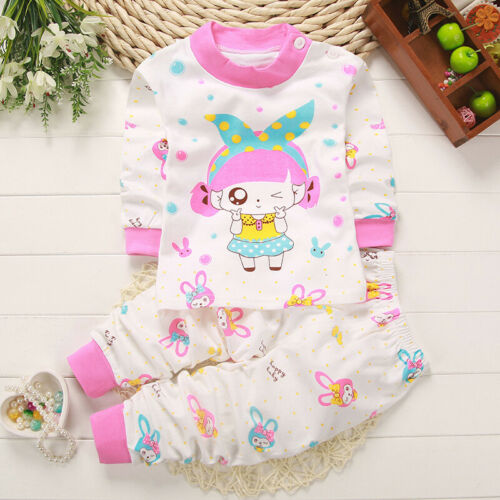Baby Top Pants Cartoon Underwear Outfits Pajamas Christmas Autumn 2019