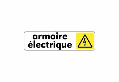 Autocollant Sticker Signalisation Plaque Porte Panneau Armoire