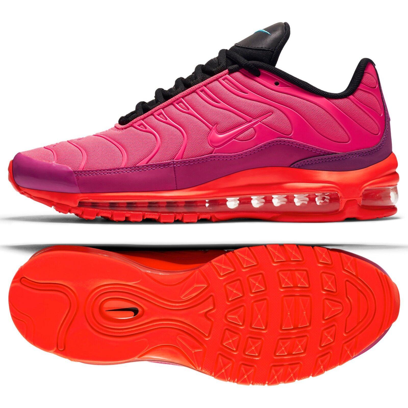 Nike Air Max 97 Plus AH8144-600 Pink Crimson Black Magenta Men's shoes Sz 11