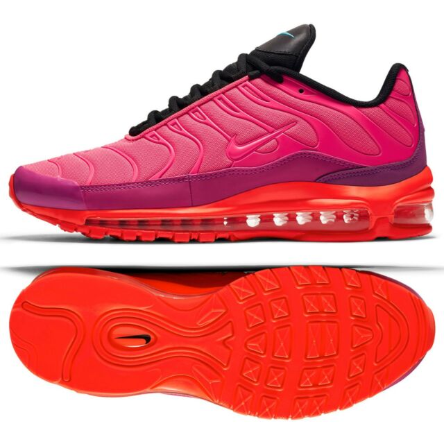 8cc02f8dced7 Nike Air Max 97 Plus Racer Pink Magenta Total Crimson Black Ah8144 ...