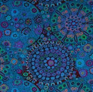 Free-Spirit-Kaffe-Fassett-Millefiore-GP92-Blue-Contemporary-Cotton-Fabric-BTY