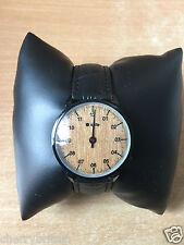 Kulte Montre Single Hand Watch Wood Dial Black Leather Strap Watch Ladies