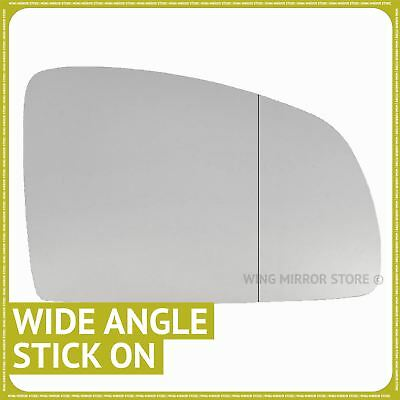 Right Driver Side Wide Angle Wing Door Mirror Glass for Vauxhall Meriva A 02-10