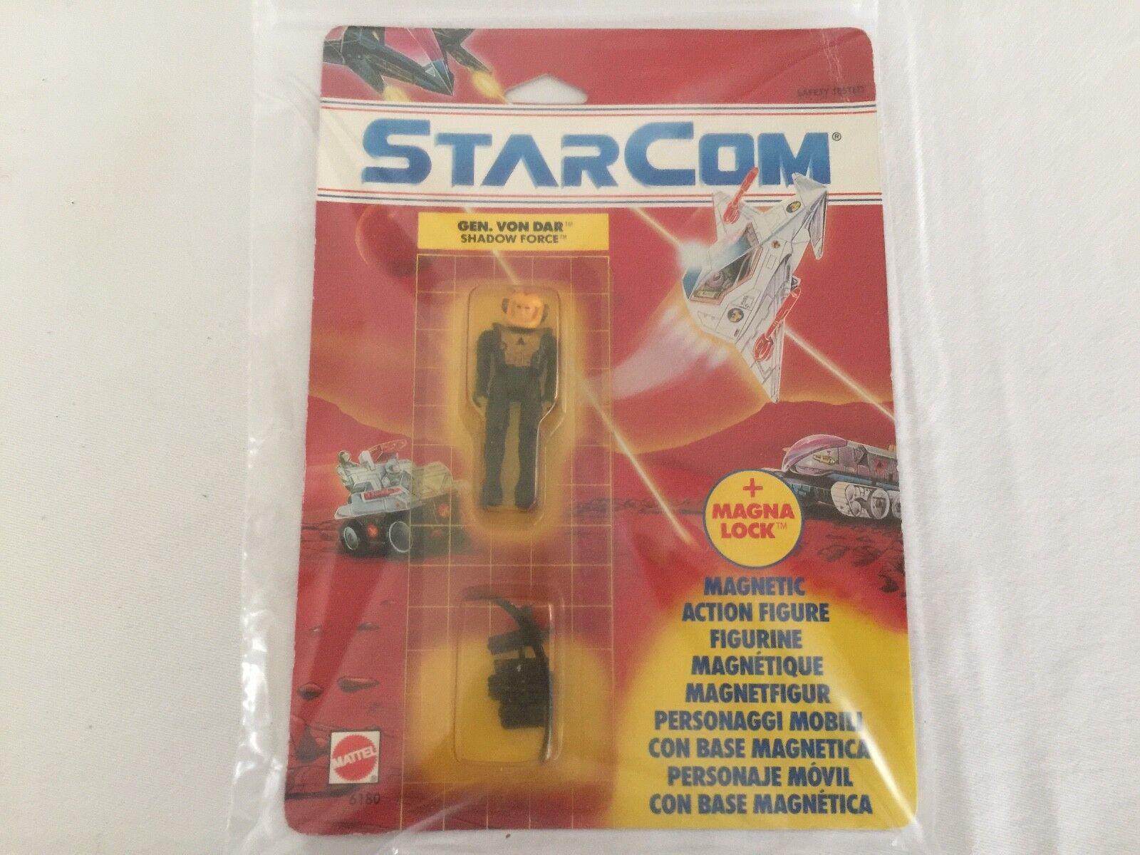 STARCOM GEN. VON DAR figure on card MOSC Mattel version EUROPEAN