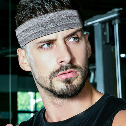 Men Women Sweat Sweatband Headband Yoga Gym Running Stretch Sports Head Band