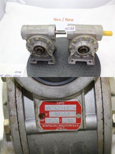 Bonfiglioli vf 62//fc sinfin I = 10 engranajes engranajes motor Gearbox