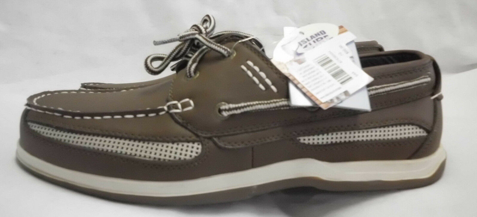 Boat shoes Island Surf Size 10M NWT Synthetic Water Resistant Brown W White