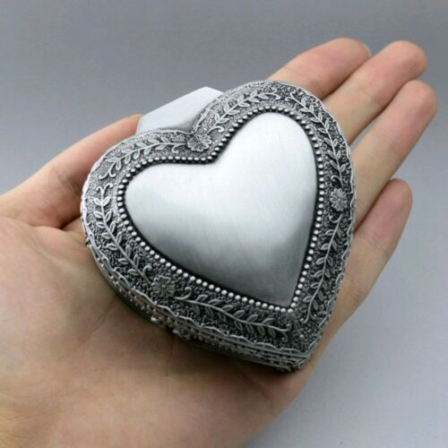 CANT HELP FALLING IN LOVE HIGH QUALITY TIN ALLOY HEART SHAPE MUSIC BOX