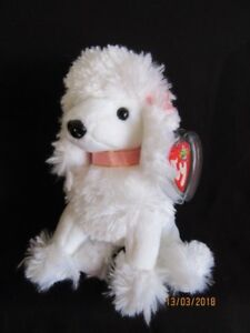 161edad673a TY BEANIE BABY L  AMORE - WHITE POODLE - MINT - RETIRED 8421400089 ...