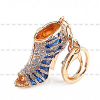 Hot Sale Rhinestone Crystal Keyring Charm Pendant Purse Key Ring Keychain Gift