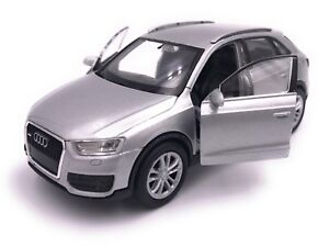 Audi-Q3-Modellauto-Auto-LIZENZPRODUKT-1-34-1-39-versch-Farben