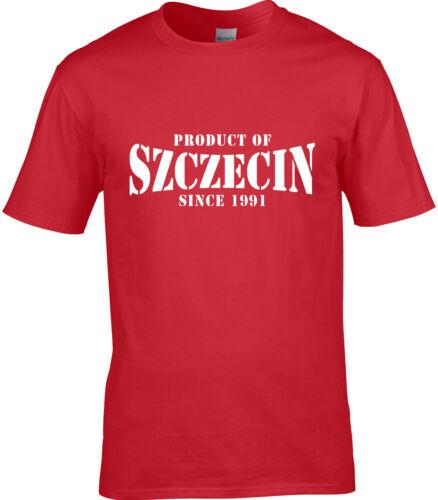 Produit de szczecin pologne t-shirt homme place cadeau d/'anniversaire année de choix