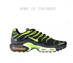 4823613bf4 Nike Air Max Plus Tuned 1 TN Black Volt White Men's Trainers All ...
