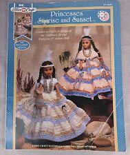 Native American Princesses sunrise Sunset doll dress pattern Fibre Craft vtg