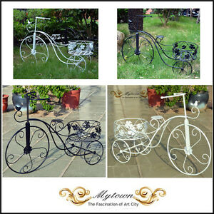 Image Is Loading Garden Decor Planter Metal Bike Bicycle Planter French