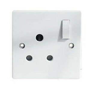 1-Gang-Switched-15A-White-Single-Round-3-pin-Wall-Socket