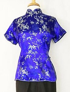 Traditional-Chinese-Asian-Women-s-Classic-Cheongsam-Qipao-Short-Sleeve-Blouse