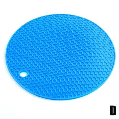 Silicone Pot Pad Heat Resistant Non-Slip Circle Mats Insulation Placemats