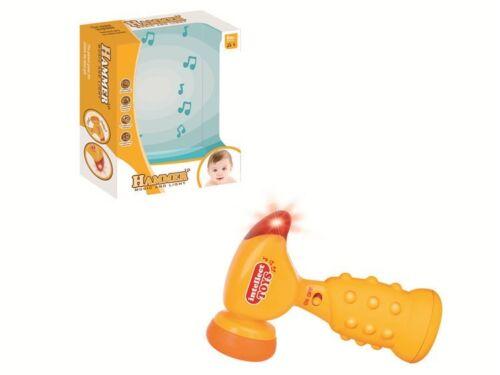 Baby und Kleinkinder Spielzeug Hammer Trommel Babyhammer mit Sound und Licht