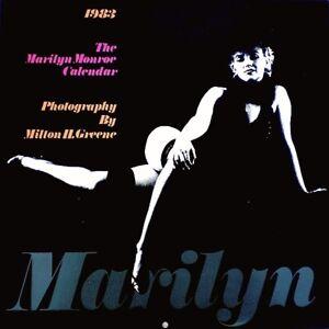 Marilyn Monroe 1983 Pinup Calendar Milton Greene Black Sitting Promo Photo EX +