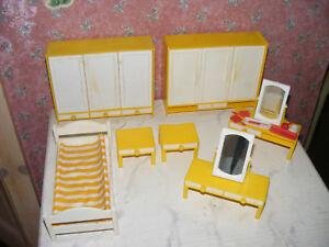 Alte Möbel-Schlafzimmer f. Bastler-Modella-Puppenstube-Puppenhaus ...