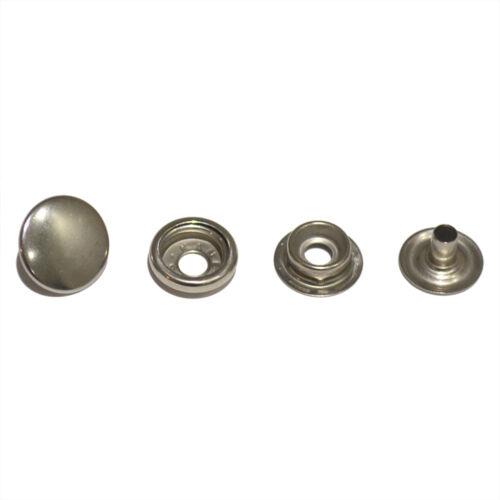 Lot de 10x en acier inoxydable SS Métal Boutons Pression Pour Vestes en cuir /& Sacs