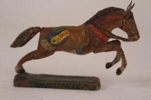 Elastolin-Figure-Horse-Riding-Gallop-Antique-Vintage-Western-Hausser-Original