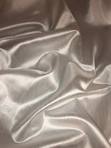 "147cm 1 mtr ivory polyester raw silk fabric 58"" wide"