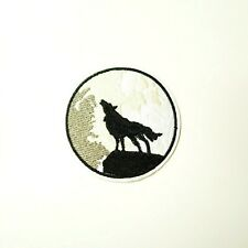 """Biker 3120 L20 Large HOWLING WOLF MOON 12/"""" x 12/"""" iron on back patch"""