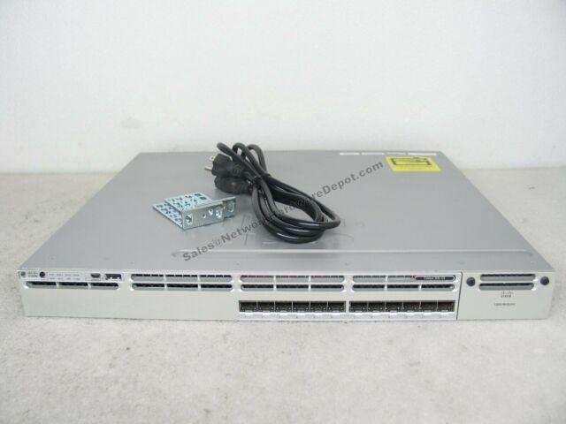 Cisco WS-C3850-12S-E 12-Port SFP 3850 Switch w/ IPS & AC Power - 1 Year Warranty